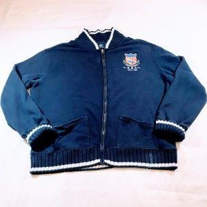 Rare Vtg Polo Ralph Lauren Track & Field Sweater